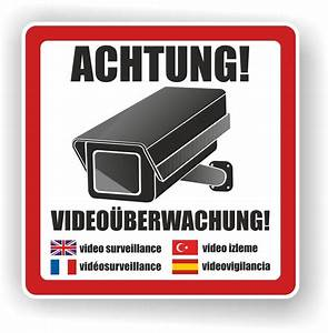 Kamera Zur überwachung : aufkleber warnaufkleber kamera video berwachung 10x10cm ~ Michelbontemps.com Haus und Dekorationen