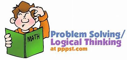 Solving Problem Math Powerpoint Thinking Logical Clipart