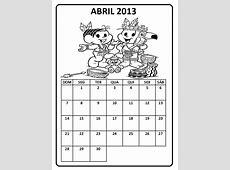 Calendário Abril 2013 para Imprimir