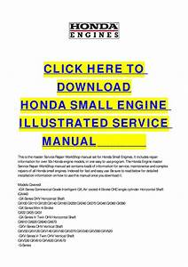 Honda Small Engine Illustrated Service Manual By Cycle