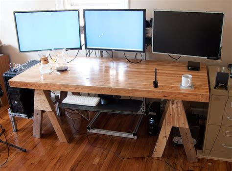 custom built gaming desk show your lcd s setups page 995 h ard forum