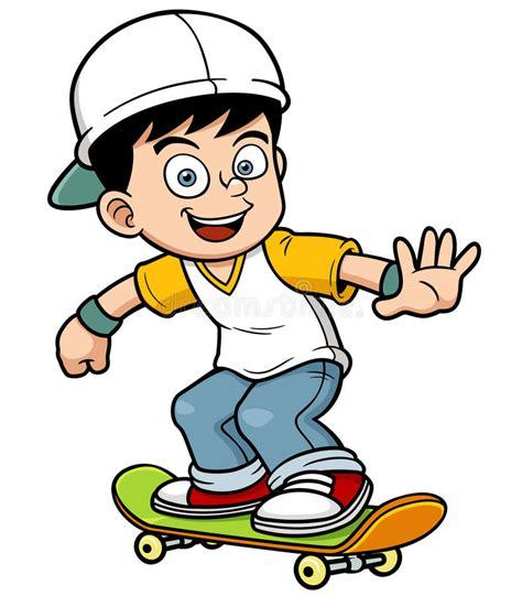 Skating Clipart Boy Skating Stock Vector Illustration Of Club Skate