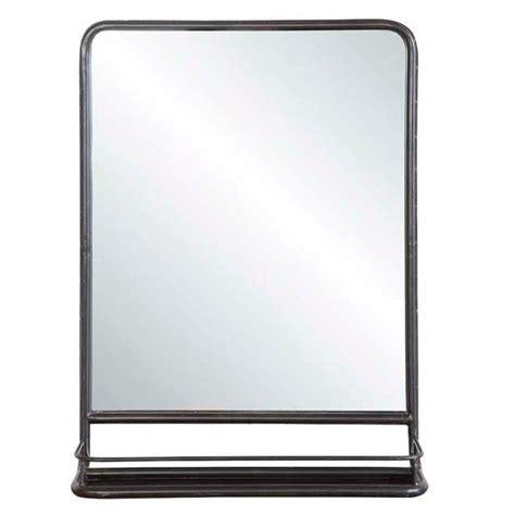 Industrial Bathroom Mirror by Metal Mirror With Shelf Small Metal Mirror Shelves