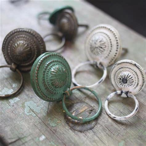 vintage drawer knobs vintage chic metal drawer pulls green brass white door