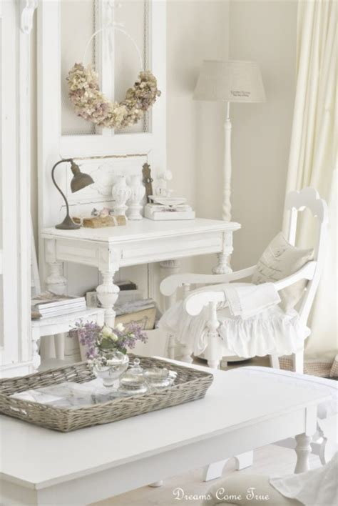 white shabby chic decor lilly queen vintage airy office space shabby chic decor