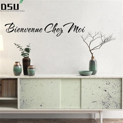 New Arrival French Quotes Bienvenue Chez Moi Decals ...
