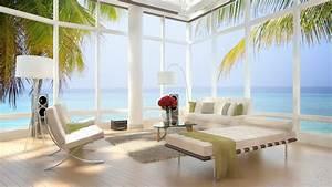 Living Room Modern Bar Design With Open Flooring View Full