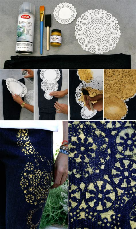 gold painted jeans pictures   images
