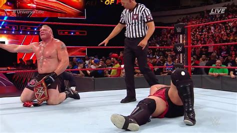 wwe great balls  fire  results brock lesnar retains