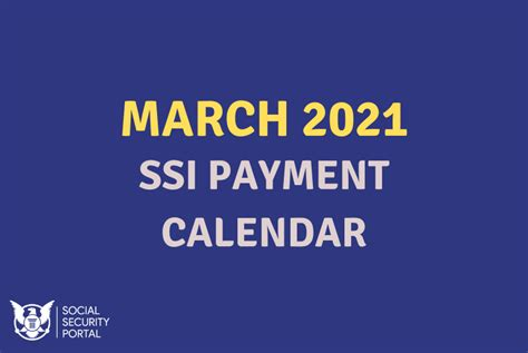 march  ssi payment calendar social security benefits