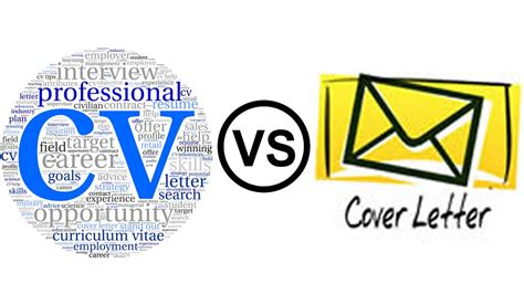 Cv And Cover Letter by Cv Curriculum Vitae Vs Cover Letter Aldecode