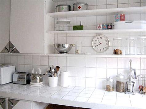 white tile kitchen countertops white ceramic tile countertop decoist 1474