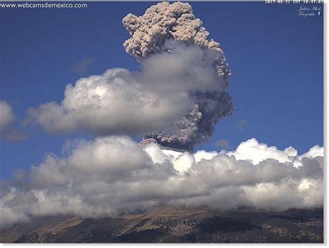 Eruption At Popocatépetl Volcano Mexico Earth Changes