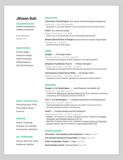 Resume Design by 14 Resume Design Neurohost