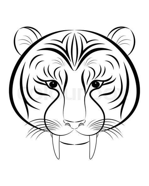 Saber Tooth Tiger Drawing at GetDrawings.com | Free for personal use Saber Tooth Tiger Drawing