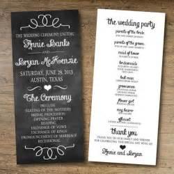 15 lovely free printable wedding program templates