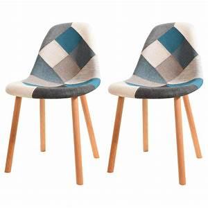 Chaise Bébé Scandinave : chaise arctik patchwork bleue lot de 2 adoptez nos chaises arctik patchwork bleues lot de 2 ~ Teatrodelosmanantiales.com Idées de Décoration