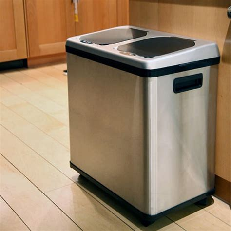 kitchen trash can stylish recycling bins you won t want want to hide