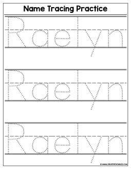 custom  tracing worksheet  create custom