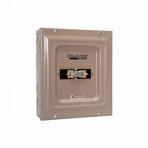 Reliance Generator Transfer Switch  U2014 60 Amp  240 Volt