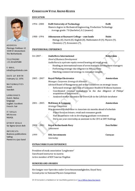 professional resume format for experienced free