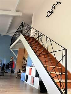 Garde Corp Escalier : rampe garde corps m tallique design mikado toulouse sur mesure ~ Dallasstarsshop.com Idées de Décoration