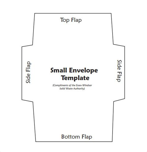 sample small envelope template   documents