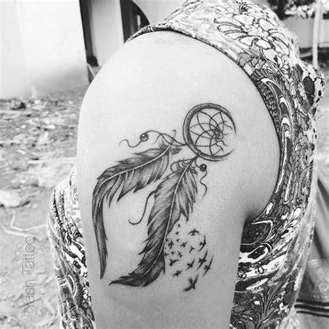 attrape reve tatouage tatouage dreamcatcher attrape  ves