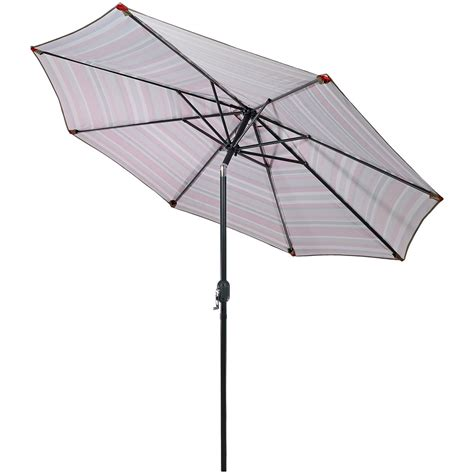 patio market umbrella with tilt crank 9 foot aluminum
