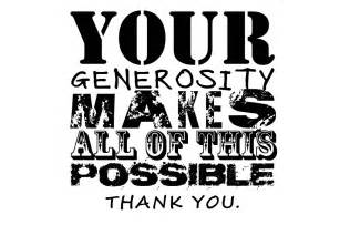 Thank You for Your Generosity Quotes