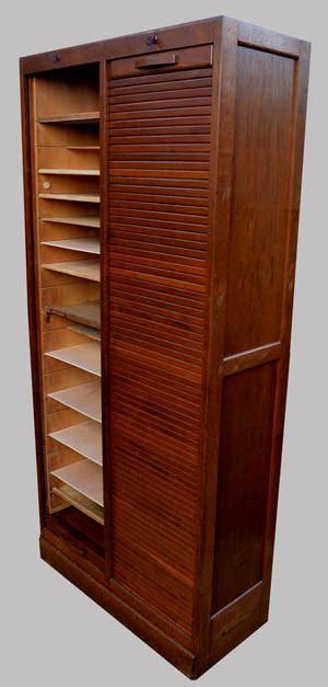 classeur  rideau ancien meuble de rangement  colonnes