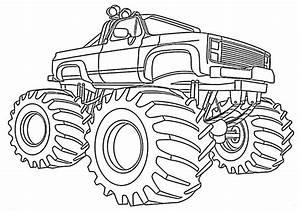 Monster Truck Ausmalbilder Zum Ausdrucken G G