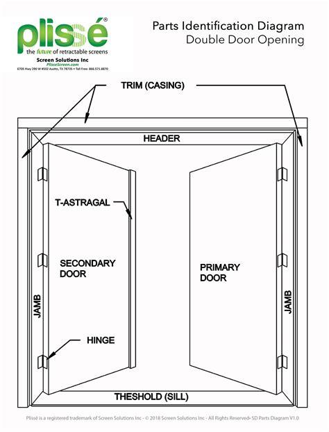 parts of a door doorway parts identification retractable screens for