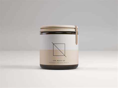 Free cosmetic cream tube mockup (psd). Front View Jar Mockup - PSD