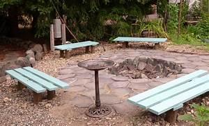 fire pit bench plans