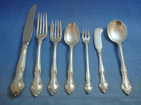 gorham sterling silver flatware gadroon english pieces service
