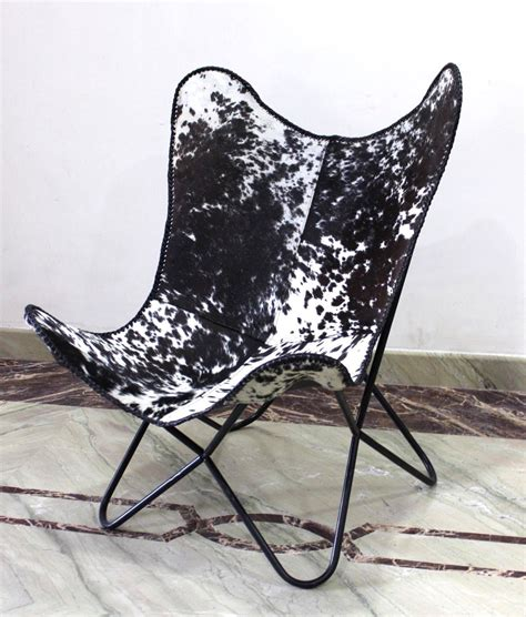 Cowhide Chair Covers by Cowhide Leather Butterfly Chair Covers Free Shipping