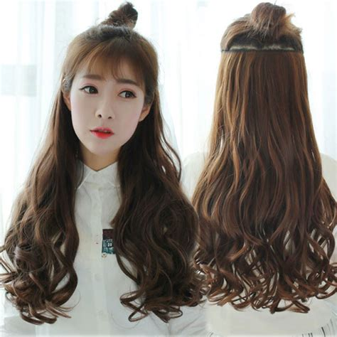 70cm 5 Clip Hair Extension Heat Resistant Fake Hairpieces