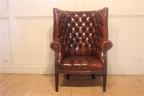 Sold/20c Leather Tub Armchair