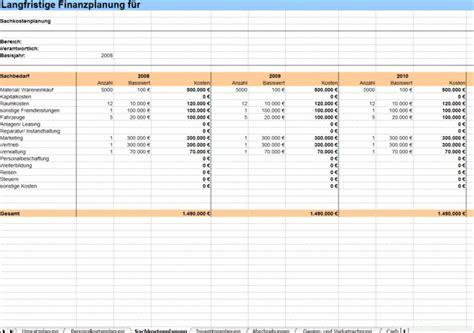 langfristige finanzplanung excel tabelle business