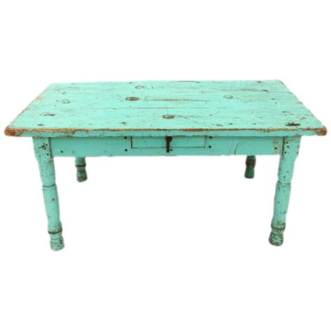 Programa provides a wide variety of different styles that varies in design, color, and look so that you can choose. Rustic Mexican Turquoise Painted Coffee Table   Chairish