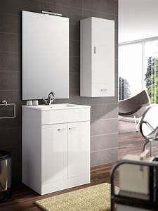 meuble salle de bain avec vasque et miroir carrelage With salle de bain design avec meuble vasque 90