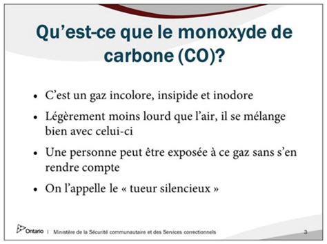 qu est ce qu une le a incandescence mat 233 riel de formation relatif aux avertisseurs de monoxyde de carbone minist 232 re de la s 233 curit 233