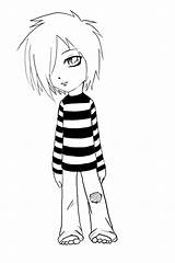 Emo Deviantart Help sketch template