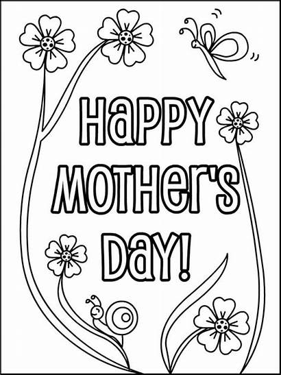 Coloring Mothers Pages Mother Printable Flowers Sheets