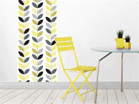 leaf jaune papier peint adh 233 sif repositionnable