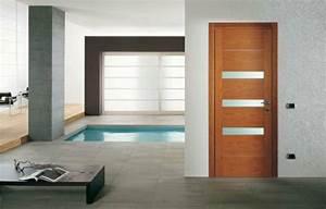 la porte en bois donne un cachet authentique a votre interieur With porte de garage enroulable et porte interieur moderne design