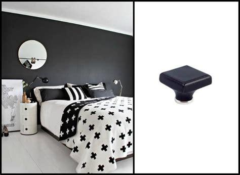 da letto nera e pomelli in ceramica per mobili idee per decorare la casa
