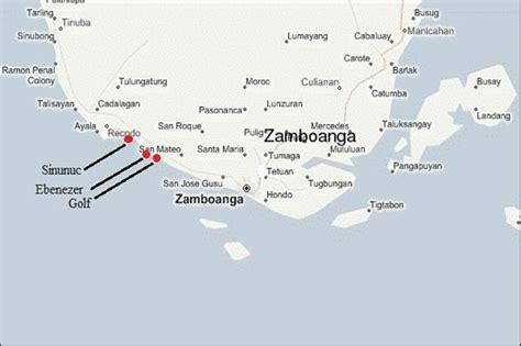 map  zamboanga city western mindanao showing  study