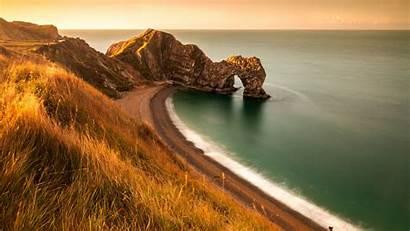 Arch Door Durdle Coast Sea